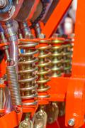 Shock absorber machinery - stock photo