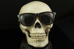 Hipster Skull Stock Photos