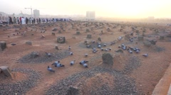 Baqee grave outside of Nabawi Mosque Stock Footage