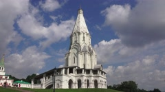 Stock Video Footage of The Church of the Ascension in Kolomenskoye, Moscow, Russia.