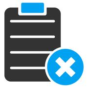 Stock Illustration of Reject Form Icon