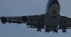 Jumbo Jet Flying Overhead Stock Footage