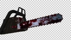 Flying Chainsaw - Bloody Slayer - Alpha - 25 fps - 4K - stock footage