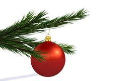 Red Christmas decoration ball Stock Illustration