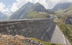 Stock Photo of Dam Grande Dixence - Worlds highest gravity dam