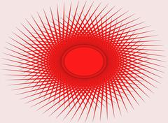 Abstract red ornament on a pink background - stock illustration