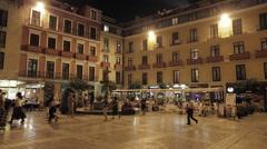 Malaga Plaza del Obispo - stock footage