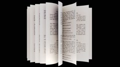 Book isolRted on whiR Stock Footage