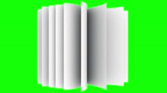 Book slow motion repeatly move over green screen Stock Footage
