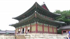 Zoom Out Palace Building Changdeokgung South Korea Stock Footage