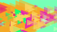 4k Triangles Abstract Background Animation Seamless Loop. Stock Footage