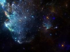 Space background with nebula and galaxies and stars - stock illustration