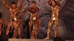 BodyBuilding Contest - stock footage