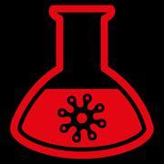 Virus Analysis Icon Stock Illustration