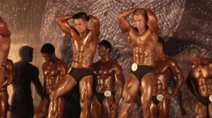 Stock Video Footage of BodyBuilding Contest