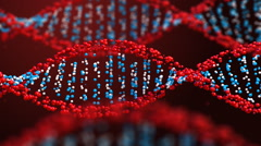 Rotating DNA helix Stock Footage