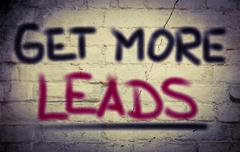 Get More Leads Concept Stock Illustration