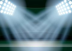 Background for posters night fencing stadium in the spotlight - stock illustration