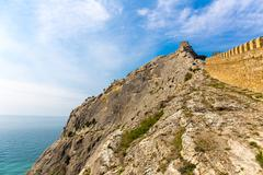 View of Genoese fortress - stock photo