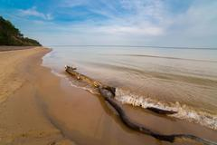 Sandy shoreline landscape Stock Photos