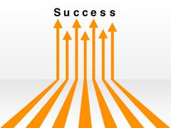 Many ways lead to success concept Stock Illustration