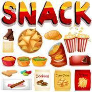 Different kind of snack Stock Illustration