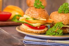 Vegan bran burger - stock photo