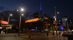 Traffic on Queen Street in Auckland New Zealand - stock footage
