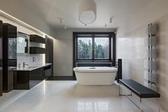 Stock Photo of Luxury bathroom interior