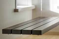 Stock Photo of View of suspended bench in light interior