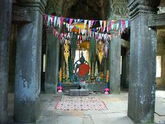 Cambodia temples - angkor wat - tourist site Stock Photos