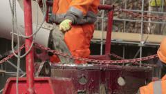 Concrete Mixer Pouring 03 Stock Footage