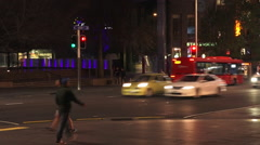 Traffic on Queen Street in Auckland New Zealand Stock Footage