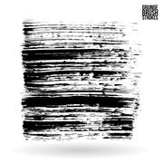 Brush stroke and texture. Vector design. Stock Illustration