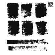 Brush stroke and texture. Vector design. - stock illustration