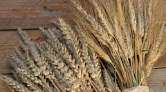 Still life with wheat and barley,zoom in Stock Footage
