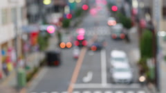 Background with cars. Out of focus background with blurry unfocused city lights. Stock Footage