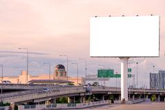 large Blank billboard ready for new advertisement - stock photo