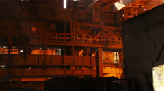 The crane in the steel shop Stock Footage