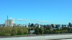 Sky tower and Auckland CBD Skyline Stock Footage