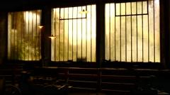 old iron foundry urbex france 07 windows - stock footage