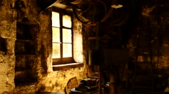 Old iron foundry urbex france 16 Stock Footage