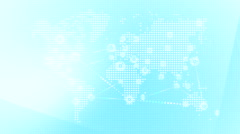 World wide web network 18 - stock footage