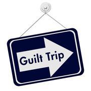 Stock Illustration of Guilt Trip Sign