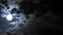 Night sky and moon time lapse Stock Footage