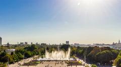 Moscow city. Gorky park. Stock Footage