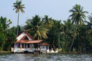 Stock Photo of Rural church at Alappuzha backwaters,South India,Kerala ,Asia