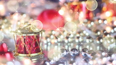 Stock Video Footage of christmas decoration drum and glitter loopable