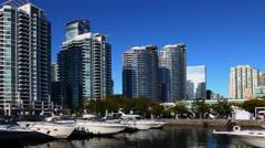 4K UltraHD Tourists flock to Toronto's Harbourfront Stock Footage