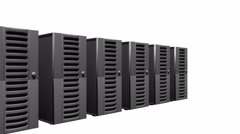 4k Row Of Network Servers. Stock Footage